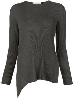 STELLA MCCARTNEY Ribbed Asymmetric Sweater. #stellamccartney #cloth #sweater