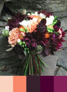 27 stunning wedding bouquets for november flowers pinterest dahlias and roses wedding flowers wild awake by hilary t smith wedding reading from book junglespirit