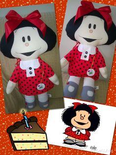 Mafalda comemorando seus 50 anos, by Ateliê Sapeka