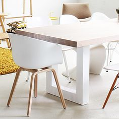 mooie eettafel hout met wit more tables chairs eettafel hout wit ...