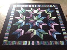 Binding Tool Star Quilt, made by Keech Star Quilt Blocks, Star Quilt Patterns, Strip Quilts, Batik Quilts, Jellyroll Quilts, Scrappy Quilts, Quilting Projects, Quilting Designs, Quilting Ideas