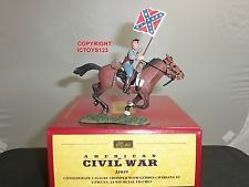 BRITAINS 31019 CONFEDERATE CAVALRY TROOPER CHARGING TOY SOLDIER FIGURE SET