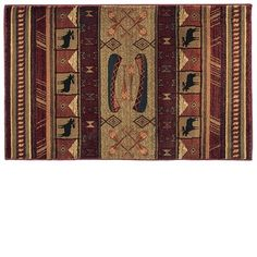 Ask a Fireplace Specialist:  The breathtaking Goods of the Woods Moose Walk Rectangular Hearth Rug, Model Number 11023, is a beautiful, flame resistant rug that is intended for use on fireplace hearths, but can be used anywhere in the home. This attractive rectangular rug features multiple designs including moose and canoes, perfect for any outdoorsy style. The rug is made from flame resistant material which meets CPSC standards for carpet flammability. It's composed of tough, twisted ya...