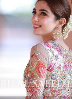 Maya Ali looking fabulous Pakistani Wedding Outfits, Pakistani Dresses, Nikkah Dress, Bridal Outfits, Maya Ali, Look Short, Indian Bridal Fashion, Desi Wedding, Wedding Wear