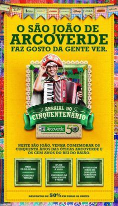 Campanha de São João. Web Design, Graphic Design, Visual Management, Campaign Logo, Advertising, Ads, Scrapbook Designs, Web Layout, Good Job