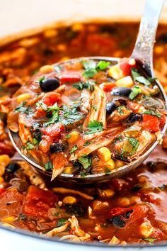 Chicken Tortilla Soup, Chicken Soup Recipes, Crockpot Recipes, Cooking Recipes, Healthy Dinner Recipes, Mexican Food Recipes, Ethnic Recipes, Mexican Dishes, Fish Recipes