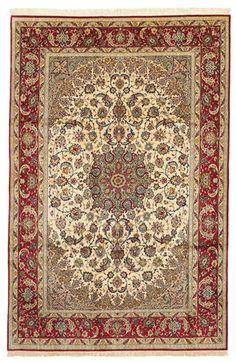 #Isfahan #exclusive #silk warp #carpet 302x207 cm from CarpetVista.com This carpet is knotted in the city of Isfahan in southwestern Persia. The carpet is thought to be the finest of all Persian carpets today.