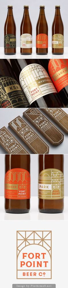 Fort Point Beer Company packaging and identity by Manual http://www.thefoxisblack.com/2014/10/27/sophisticated-branding-for-fort-point-beer-company-by-manual/