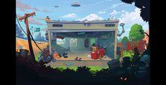 Game location on Behance Design Art Drawing, Game Background, Visual Development, Game Design, Interior And Exterior, Aquarium, Environment, Behance, Games