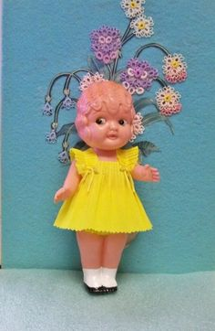 Darling Celluloid Carnival Cupie ~ Kewpie ~  Betty Boop Style Crepe Paper Dress ~ Head Moves ~ Wonderful by rosenu2 on Etsy https://www.etsy.com/listing/451864594/darling-celluloid-carnival-cupie-kewpie