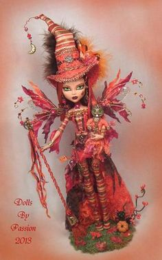 Monster High Witch Fairy Goth Collector Art Doll Altered OOAK Custom Passion | eBay