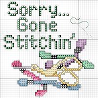 Cross Stitch Happy: Sorry, Gone Stitchin'