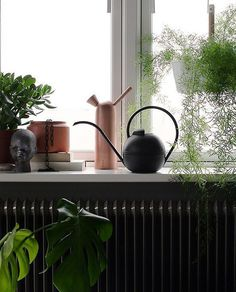 Water your plants in style with this designer watering can from Denmark. The House Doctor watering can has a long spout and capacity for indoor plants.