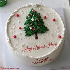 Christmas Tree Wishes Cake With Name Editing Christmas Night, Christmas Wishes, Merry Christmas, Anniversary Cake With Photo, Happy Birthday Cake Images, Cake Templates, Cake Name, Beautiful Christmas Trees, Cream Cake