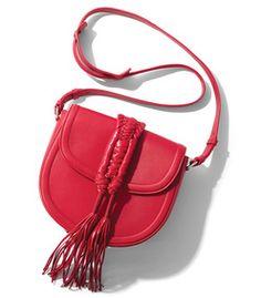 Altuzarra: Red 'Ghianda' Saddle Knot Bag