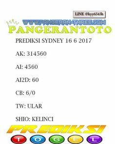 PANGERANTOTO: pangerantoto prediksi togel sydney 16/6/2017