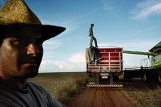 Alex Webb - BRAZIL. Nova Mutum. 2006. Soy harvesting. Brazil is the second largest soy producer in the world.