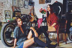 Kick starting the week.. #motorcycles #workshop #girls #photoshoot #comingsoon #vintagecorner #oldstable #homoratus #weekstart #hatemondays Special thnx to Georgia & Vivi