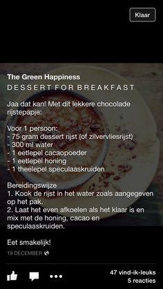 Ontbijt rijstepap / the green happiness
