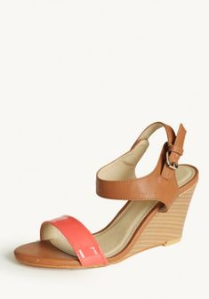 Colorblocked wedges