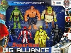 Horrible superhero bootlegged toys. You don't need two bulked up team mates. The Thing has no place on this team. Bring in Daffy Duck.