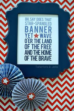 4th of July Free Ombre Printable!! -- Tatertots and Jello