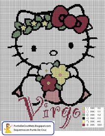 Punto De Cruz: Horóscopo Virgo De Hello Kitty