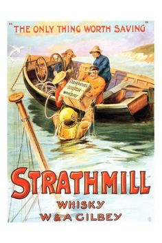 Strathmill Whisky 1900s Advertising Print - Vintage Advertising Posters - Retro Posters iPosters £7.99