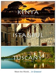 meet the world .in Greece. The pictures are from the places in Greece in small fonts. Places Around The World, The Places Youll Go, Travel Around The World, Places To Go, Around The Worlds, Places In Greece, Single Travel, Paradise On Earth, Thessaloniki
