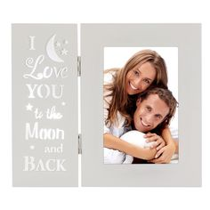 OUCHAN Love You More Picture Frame 4x6 Light up Carved Wording-I Love You to the Moon and Back -- Click image to review more details-affiliate link. #PictureFrames