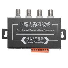 BZX-410 4CH 4 Channel Active Video Balun Video Receiver UTP CAT5 1U UTP Video Transceiver