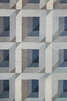Textile painting by Åsa Kummu, Sweden. 1989. — Modernity