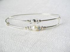Sterling silver wire bracelet expandable by wishlistartjewelry