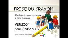 PRISE DU CRAYON 2: L'histoire de la voiture présentée aux enfants (ergot...