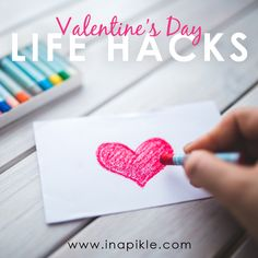 "Valentine's Day is right around the corner! Here are a few of our favorite EASY ""life hacks"" to help make the holiday totally fabulous: -For breakfast, unroll a can of cinnamon rolls and re-shape them into hearts. -Cut out refrigerated biscuit dough into heart shapes with a cookie cutter. Top with pizza sauce and cheese for personal heart pizzas. -Bend a pipe cleaner into a heart shape, dip in paint, and make a fun Valentine's Day art craft. -Use Conversation Hearts as a vase filler."