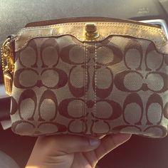 Coach wrist wallet Brown coach wallet  authentic Coach Bags Clutches & Wristlets