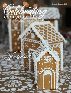 Jennifer Carroll Media, love these gingerbread houses as a village