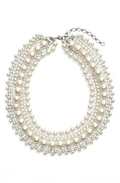 Free shipping and returns on Cristabelle Crystal & Faux Pearl Multristrand Necklace at Nordstrom.com. A mix of sparkling crystals and luminous glass pearls creates a striking multistrand necklace that's both polished and whimsical.