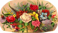 mixed floral vintage