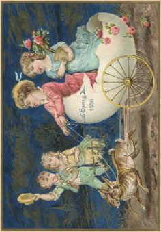 vintage 1886 printable Easter card