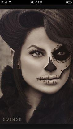 Halloween sugar skull makeup idea