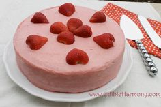 Strawberry Paleo Birthday Cake - Edible Harmony. I made this for my sons birthday this past summer and it was delicious! I used blueberries and strawberries.