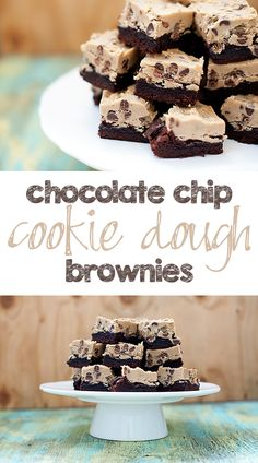 Cookie Dough Brownies recipe - would be a fun Christmas dessert!