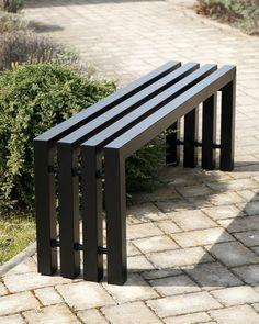 Designová zahradní lavice celokovová Outdoor Furniture, Outdoor Decor, Aqua, Bench, Home Decor, Water, Decoration Home, Room Decor, Home Interior Design