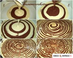 This reminds me of tree rings and now I want to make a tree stump cake! Sweet Recipes, Cake Recipes, Dessert Recipes, Köstliche Desserts, Delicious Desserts, Food Cakes, Cupcake Cakes, Baby Cakes, Mini Cakes
