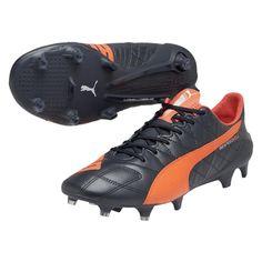 Puma evoSPEED SL (Leather) FG Soccer Cleats (Total Eclipse Lava  Blast White). Soccer Boots ... 22fb03713