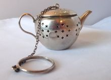 International Sterling Silver Figural Tea Ball Infuser TEAPOT