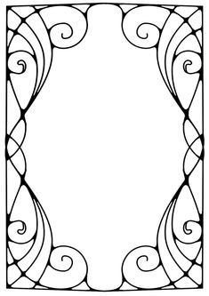 Arst and crafts Projects Free Printable - - Arst and crafts DIY Fun - - Arst and crafts DIY Homemade - Arst and crafts House Room Organization Motifs Art Nouveau, Art Nouveau Pattern, Art Nouveau Design, Design Art, Nouveau Tattoo, Jugendstil Design, Art Nouveau Illustration, Frame Clipart, Black And White