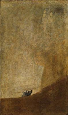 """Francisco de Goya, El Prado: """"Perro semihundido"""" / """"Dog half submerged"""" (Pinturas negras / Black pictures)"""