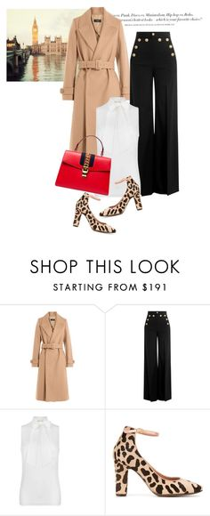 """""""Pretty babe"""" by gold-candle23 ❤ liked on Polyvore featuring H&M, Joseph, RED Valentino, MICHAEL Michael Kors, L'Autre Chose and Gucci"""